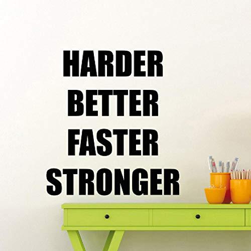 er Besser Fitness Motivierend Zitat Vinyl Aufkleber Sport Poster Workout Inspirierend 57x62cm ()