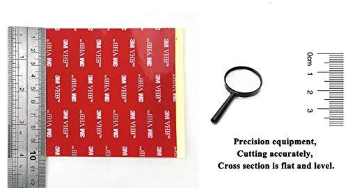 Noir Double Face Acrylique VHB 3 m carré Pad - 100 mm x 100 mm x 1 mm d'épaisseur - Résistant aux intempéries VHB Heavy Duty ruban - Modèle : 5952