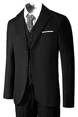 Hanayome Men's 3 Piece Black Business Suit Formal Tuxedo Casual Separate Pant Set 2017 (Black,54)