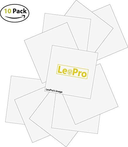 30,5x 30,5cm (10) Blatt-leopro glänzend selbstklebend Craft Vinyl für Cricut, Silhouette, Cameo, Craft, Drucker, und Decals-Outdoor und Permanent Matte white. -