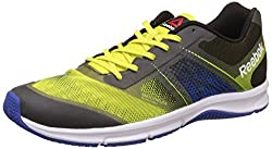 Reebok Mens Quick Win Hero Yellow, Blue, Black and White Running Shoes - 8 UK/India (42 EU)(9 US)