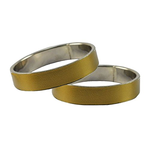 Golden Plain Metal Bangle Size-2.8 for Women and Girls