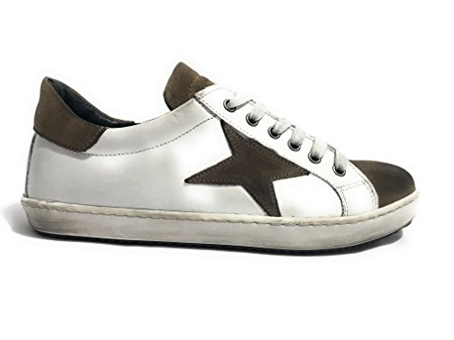 TONY WILD Zapatos de Cordones de Piel Para Hombre Rosso/Bianco/Blu Size: 45 eiWTf5BY