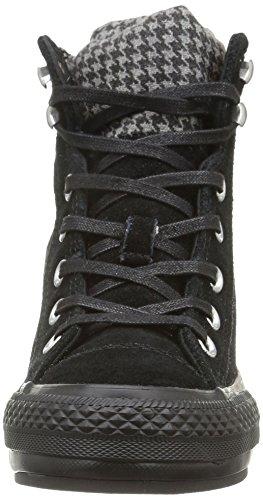 Converse, A/S Hi Platform Plus Collar Su Sneaker,Donna Black/Houndstooth