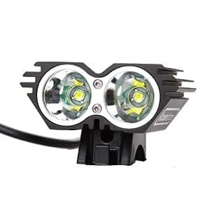 Koolertron - Nouveau 4 Modes Lampe avant Phare avant Imperméabilisation pour vélo / VTT / Enduro éclairage avant 2 x CREE XM-L U2 LED 4000 Lm