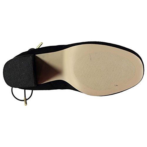 Lacing Preto Tornozelo Madden Micro Boots Steve Botas Calcanhar Bloquear Mulheres Detalhe Raver Ankle 76zxp1nwq