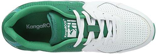 KangaROOS Coil-r2 Tone, Baskets Basses Mixte Adulte Multicolore - Mehrfarbig (smaragd/White 808)