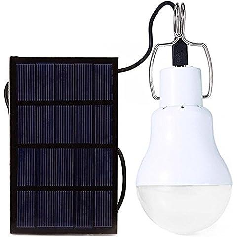 Gosear 4W Portátil LED Lámpara Bombilla con Energía Solar / Camping Luz de al aire libre con Interruptor y Panel