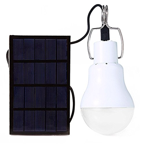 1.2W Portable LED Outdoor-Solarenergie betriebene Lampe Camping Lampe mit Schalter und Solar-Panel