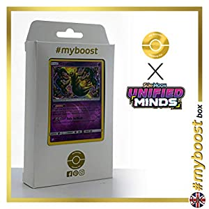 Giratina 86/236 Holo Reverse - #myboost X Sun & Moon 11 Unified Minds - Box de 10 cartas Pokémon Inglesas