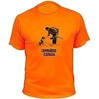 Camiseta de caza, Compañero esencial, Regalos para cazadores (30410, Naranja, M)