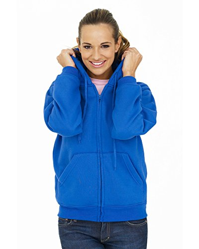 Uneek Ladies Classic Full Zip Hooded Sweatshirt - 11 Colours Available
