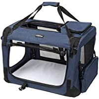 LEMAIJIAJU Caisse de Transport Cage de Transport Pliable Sac de Transport  pour Chien et Chat Animal ef83991142a6