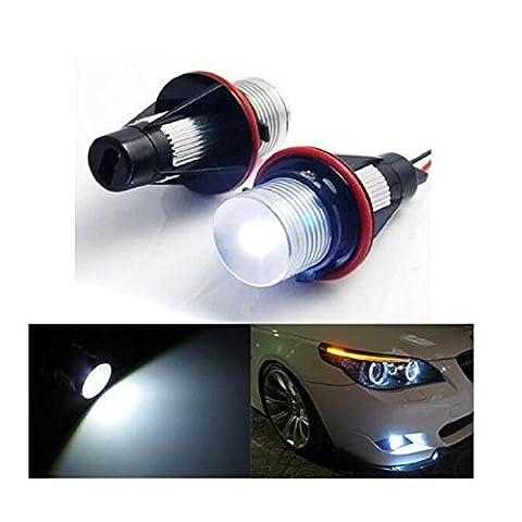 7000 K White LED Angel Eyes Light for BMW E39 E60 E61 E64 E65 E66 E53 E83 E87 [Energy Class A++]