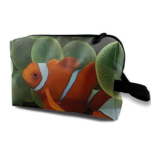 Clownfische Kosmetiktaschen Aufbewahrungstasche Schminktasche Mit Bürstenbeutel Tragbarer Reißverschluss Brieftasche Handtasche Für Frauen Notwendig -
