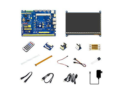 V3 Accessory Pack (Waveshare Raspberry Pi Compute Module 3+ Accessory Pack Type B CM3+ IO Board 7inch HDMI LCD IPS Touch Screen DS18B20 IR Remote Controller)