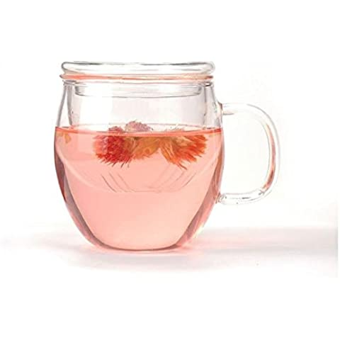 RUIRUI-Tazze di tè di vetro Pyrex, filtro