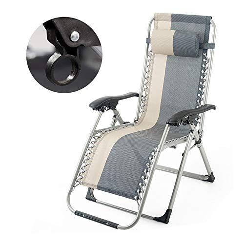 Liegestühle Übergroße Schwerelosigkeit Stuhl for Schwere Menschen, Folding Recliner Einstellbare Sonnenliege for Beach Yard, Unterstützung 330lbs (Küche, Stühle Für Schwere Menschen)