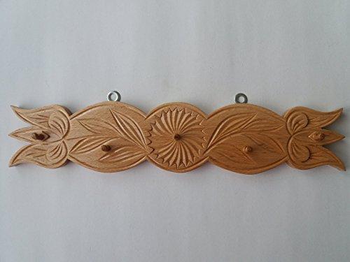 Holz handgeschnitze Schlüssel Kleiderbügel Schlüsselbretter Schmuck Kleiderbügel Zuhause Geschenk, handgemachte Schlüssel Wand Veranstalter Wand Schlüsselhalter rustikale Holz Wandhaken - Veranstalter Wand