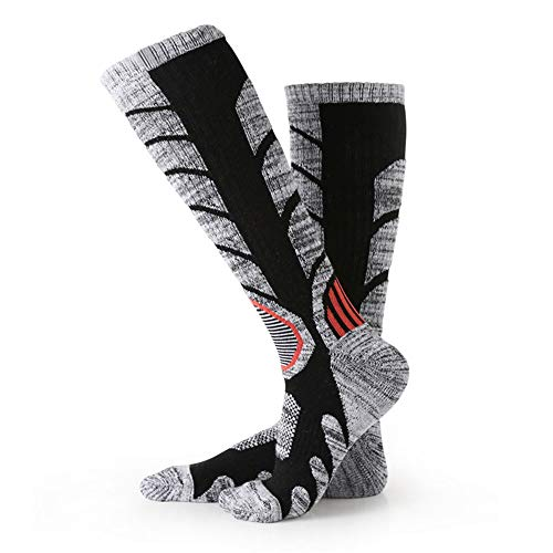 Rosepoem Damen Hochleistungs-Skisocken aus Baumwolle - Outdoor-Skisocken aus Baumwolle, Snowboard-Socken