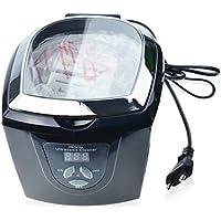 JIEHTT Máquina de Limpieza de Gafas por ultrasonidos Reloj de Piezas de Disco Temporizador Digital Acero Inoxidable.