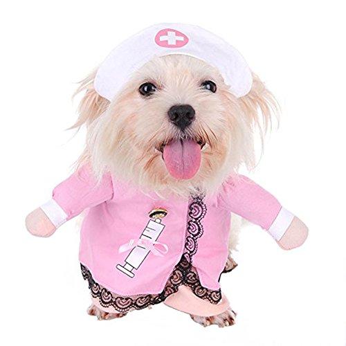 Haustierausstattungs Krankenschwester Kostüm Halloween Weihnachtskleidung mit ()
