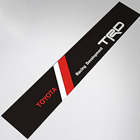 Demupai Front Windshield Banner Decal Vinyl Car Stickers for TRD Racing Development (Black