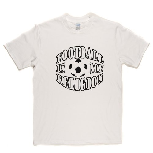 Football Is My Religion Footy Lads Football Soccer Tee T-shirt Weiß