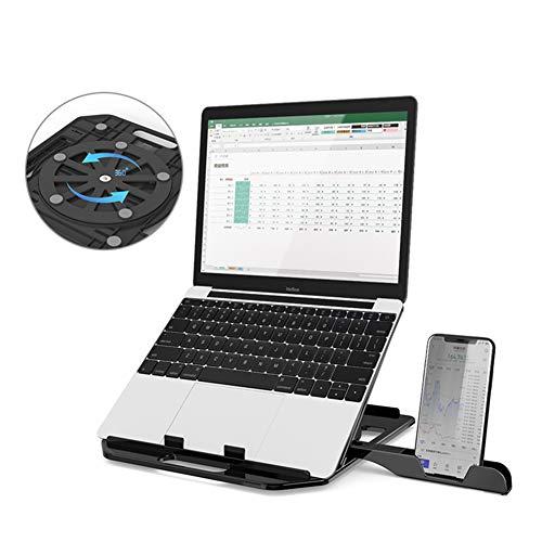 DNSK10 Notebook Stand Halswirbel Desktop Büro Computer Lift Faule Tragbare Halterung Kühler Vertikales Regal Erhöhen Pad Basis Klappboden Kann Mit Handy Halterung Rotiert Werden