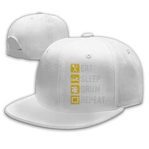 DAIAII Herren Baseball Caps,Hüte, Mützen, Classic Baseball Cap, Eat Sleep Drum Repeat Women's Men's Adjustable Plain Baseball Cap Trucker Cap - Eat Sleep Drum