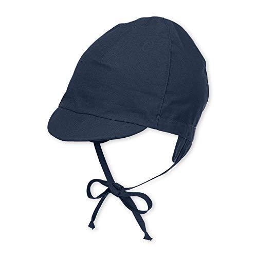 Sterntaler Schirmmütze mit Bindebändern, Alter: 2-3 Monate, Größe: 37, Blau (Marine) - Baby Hut Größen