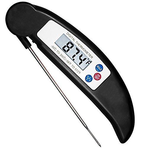 HOTSO Plegable Termómetro Digital de Cocina con Pincho de Acero Inoxidable Leer...