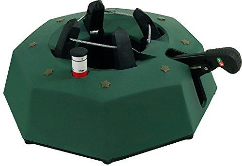 FHS M300 Christbaumständer Max 3 eckig, mit Fußhebelfunktion und Einseiltechnik, 2,3 Liter Wassertank, für Baumhöhe max. 3 m