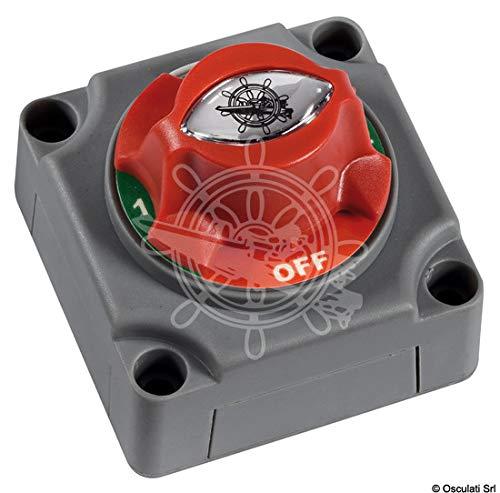 OSCULATI Mini Interruttore/deviatore Batteria 1-2-BOTH-OFF
