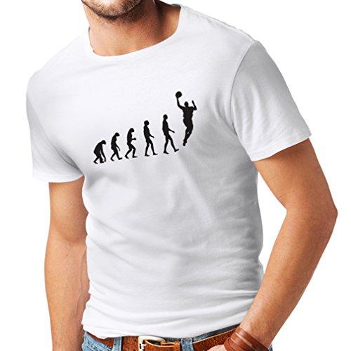 Männer T-Shirt Evolution Basketball - Street Basket, ich Liebe Dieses Spiel, tolles Fan-Geschenk (Large Weiß Schwarz)