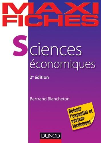 Maxi fiches de Sciences économiques - 2e éd.