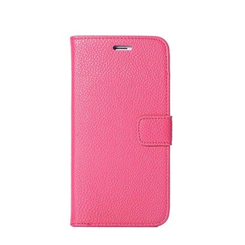 """inShang Hülle für Apple iPhone 6 Plus iPhone 6S Plus 5.5 inch iPhone 6+ iPhone 6S+ iPhone6 5.5"""", Cover Mit Modisch Klickschnalle + Errichten-in der Tasche + GRID PATTERN, Edles PU Leder Tasche Skins E super PU pink"""