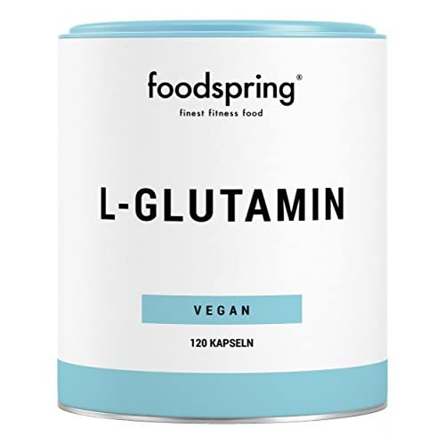 foodspring L-Glutamine, 120 Capsules, Vegan, For Faster Recovery