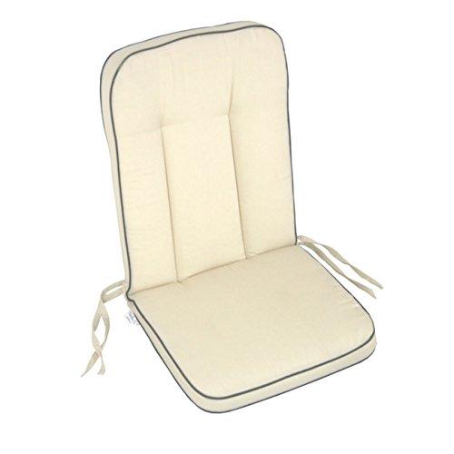 Polsterauflage MBM Romeo Elegance Gartenstuhl von OUTLIV. Hochlehnerauflage Sitz- Rückenkissen beige/anthr. Sitzauflage Gartensessel
