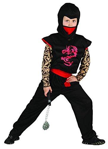 Imagen de disfraz ninja rojo y negro niño  4  6 años