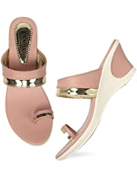 Denill Women and Girls Wedge Heel Toe Ring Sandal (Slip on Style) Price in India