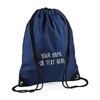 MYOG © Personalised Premium Drawstring Bag PE Gym Kit School P.E Kids Sport Rucksack (22 Colours)