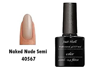 JUST SHELLAC GEL Vernis Couleur a Ongles Powder My Nose Nude Naked professionnels gel UV Semi Permanent UV/LED 10ml