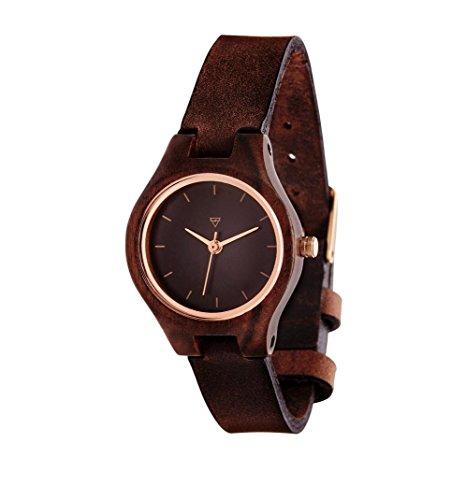 Kerbholz Damen-Armbanduhr Adelheid Analog Quarz Leder 0612524230957