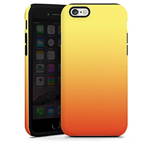 Apple iPhone 4 Housse Étui Silicone Coque Protection Rouge Jaune Orange Cas Tough terne