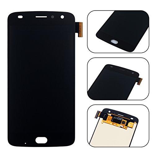 YHX-OU di Riparazione e Sostituzione per 5.5' Motorola Moto Z2 Play,LCD Display con Touch Screen Digitizer + Utensili Inclusi (Nero)
