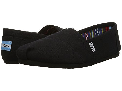 TOMS Women's Canvas Slip-On,Black on Black,10 M (Slip Canvas Schuhe Toms)