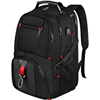 MATEIN Extra Large Laptop Backpack, 17 Inch Travel Hand Luggage Backpack with USB Charging Port, Waterproof XL Business Computer Rucksack for Men & Women, Overnight Laptop School Bag - Black