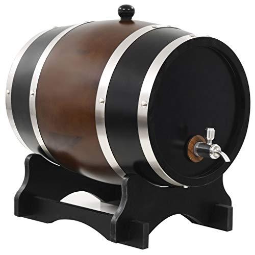 Este barril de vino de estilo antiguo será un complemento atemporal para su hogar, perfecto para los fanáticos de vino. Esta barrica de vino es perfecta para almacenar su vino, así como whisky, cerveza, ron, tequila, etc. o como decoración para el ho...