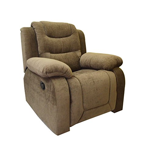 AE Designs Rocking Recliner In Olive Brown Fabric